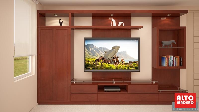 Dormitorio mueble tv 0 alto madero for Mueble tv dormitorio