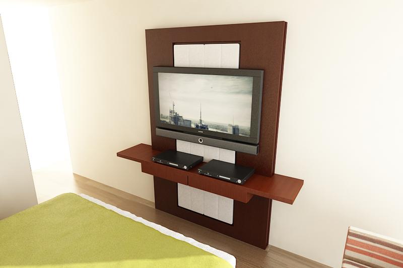 Muebles tv trasera alto madero for Mueble tv dormitorio