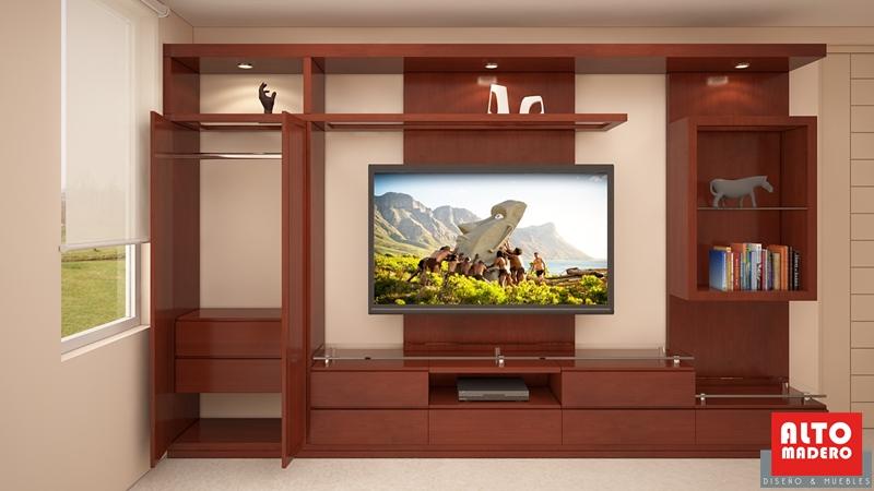 Muebles tv alto madero for Mueble tv dormitorio