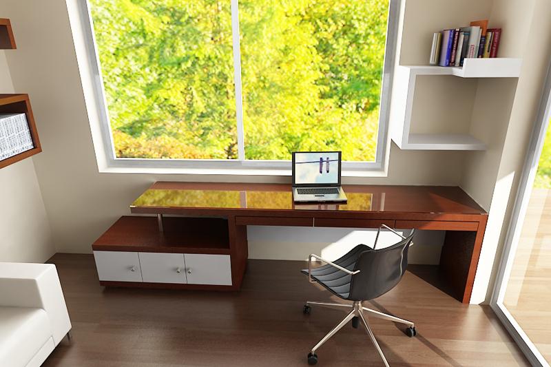 Dormitorio escritorio alto madero - Escritorio dormitorio ...