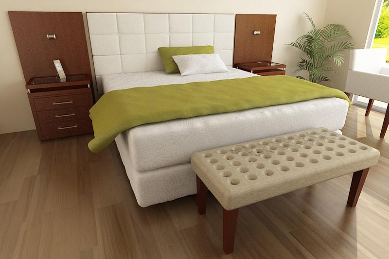 Dormitorio banqueta alto madero - Banquetas dormitorio ...