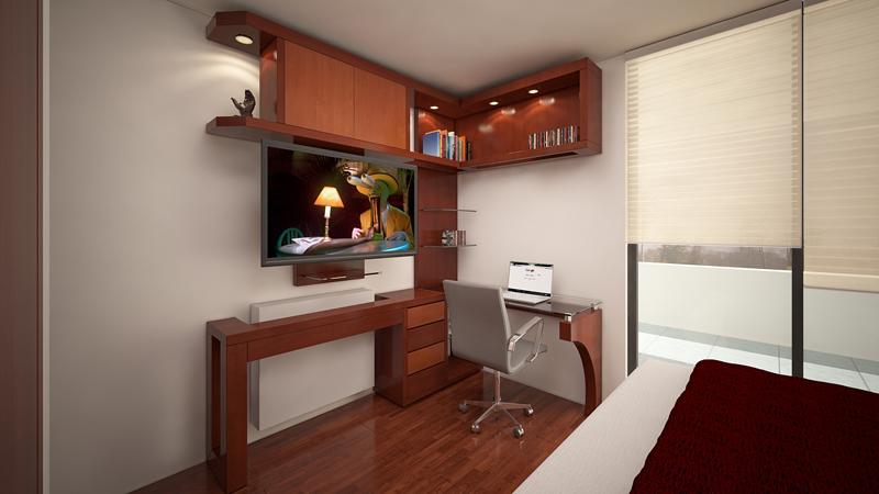 Muebles TV dormitorios 1 - Alto Madero