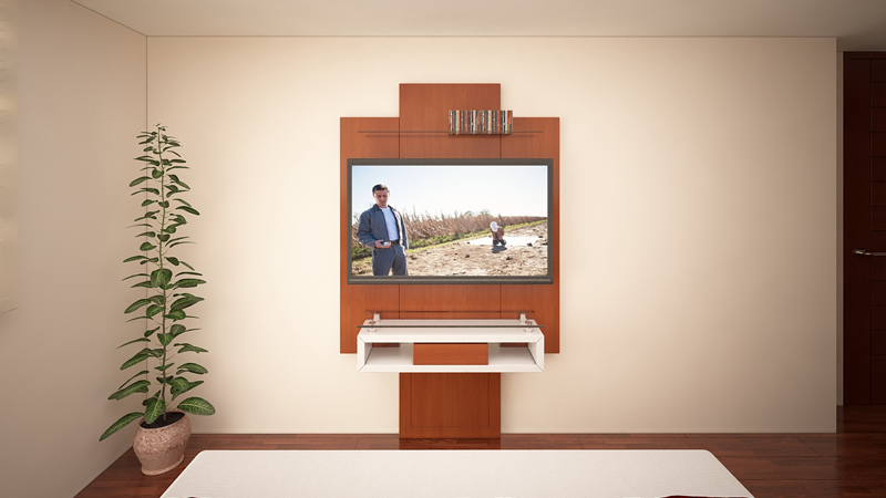 Dormitorio mueble tv trasera 2 alto madero for Mueble tv dormitorio
