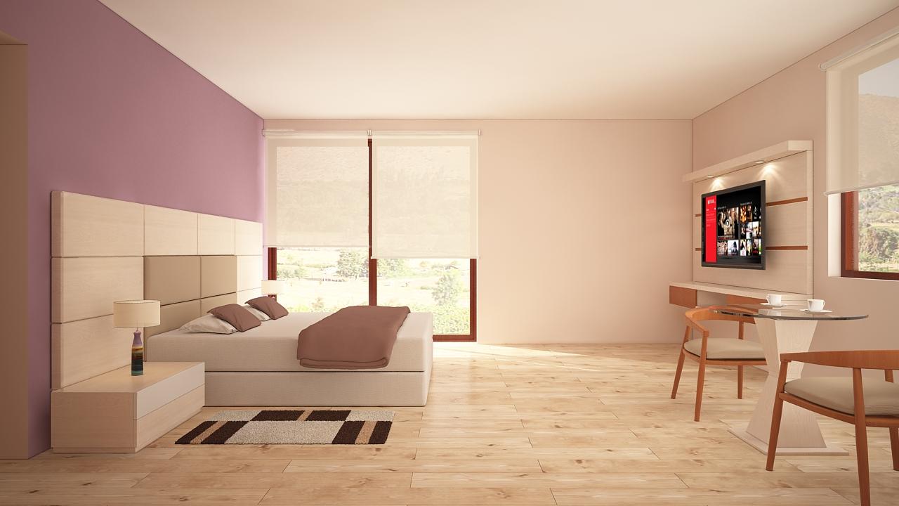 Dormitorio mueble tv 1 alto madero for Mueble tv dormitorio