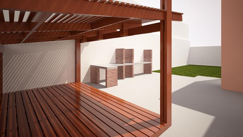 Muebles de terraza alto madero for Muebles terraza pvc