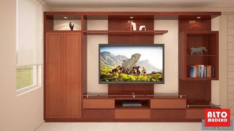 Muebles para dormitorio muebles tv alto madero - Mueble tv dormitorio ...
