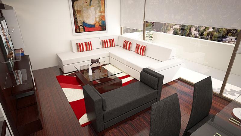 Sofa L Blanco Ecocuero