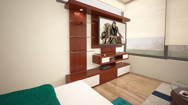 Dormitorio Mueble TV 9