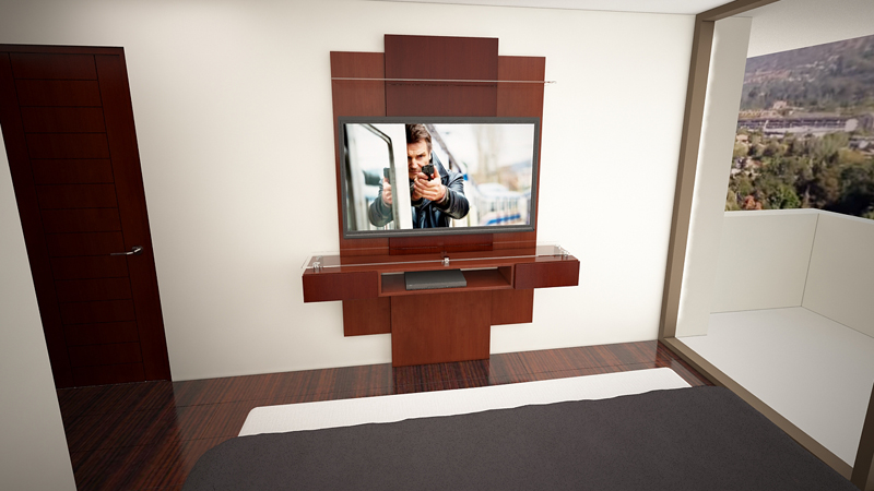 Dormitorio Mueble TV 8