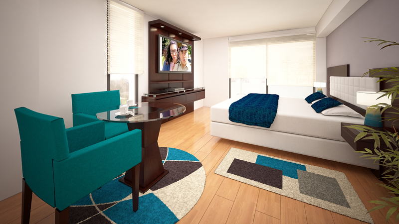 Dormitorio Mueble TV 12