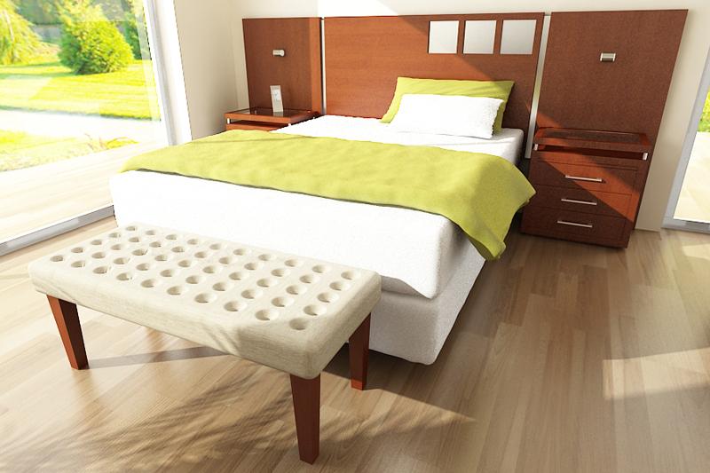 Dormitorio banqueta